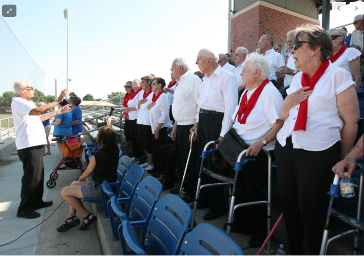 Seniors enjoy 'America's game' at Duncan Field